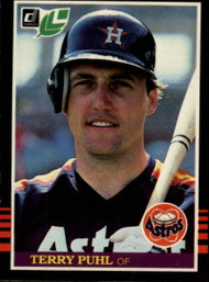 1985 Donruss/Leaf #80 Terry Puhl VG Houston Astros