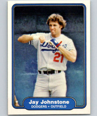 1982 Fleer #10 Jay Johnstone VG Los Angeles Dodgers