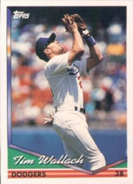 1994 Topps #143 Tim Wallach VG Los Angeles Dodgers