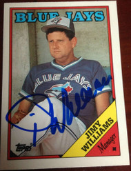 Jimy Williams Autographed 1988 Topps Tiffany #314