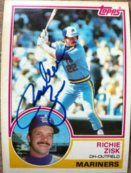 Richie Zisk Autographed 1983 Topps #368