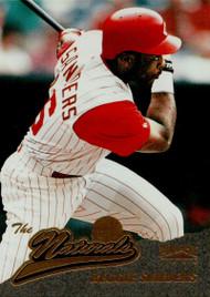 1996 Pinnacle #143 Reggie Sanders NAT VG Cincinnati Reds