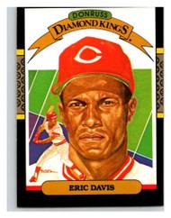 SOLD 28577 1987 Donruss #22a Eric Davis DK ERR VG Cincinnati Reds