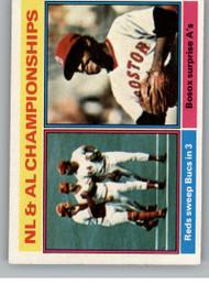 SOLD 85984 1976 Topps #461 NL & AL Championships VG Cincinnati Reds/Boston Red Sox