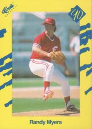 1990 Classic Yellow #18 Randy Myers VG Cincinnati Reds