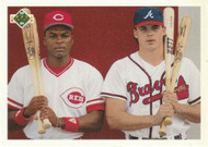 1991 Upper Deck Final Edition #1F Reggie Sanders/Ryan Klesko CL NM-MT Atlanta Braves/Cincinnati Reds