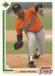 1991 Upper Deck Final Edition #13F Arthur Rhodes NM-MT RC Rookie Baltimore Orioles