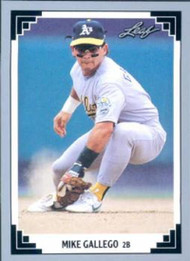 1991 Leaf #78 Mike Gallego VG Oakland Athletics