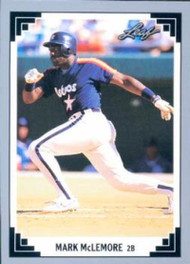 1991 Leaf #86 Mark McLemore VG Houston Astros
