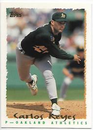 1995 Topps #72 Carlos Reyes VG  Oakland Athletics