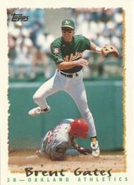 1995 Topps #129 Brent Gates VG  Oakland Athletics