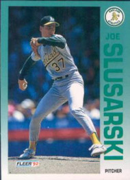 1992 Fleer #266 Joe Slusarski VG Oakland Athletics