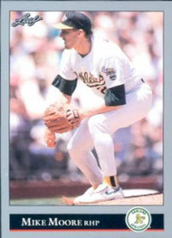 1992 Leaf #164 Mike Moore VG Oakland Athletics