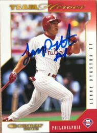 Lenny Dykstra Autographed 2003 Donruss Team Heroes #379