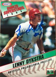 Lenny Dykstra Autographed 1995 Kraft Singles #20