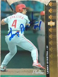 Lenny Dykstra Autographed 1994 SP Die Cuts #135