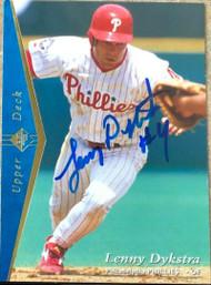 Lenny Dykstra Autographed 1995 SP #87