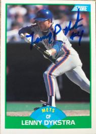Lenny Dykstra Autographed 1989 Score #84