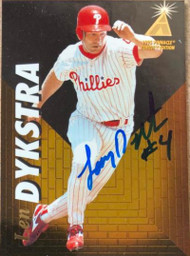 Lenny Dykstra Autographed 1995 Pinnacle Zenith #68