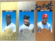 Lenny Dykstra Autographed 1994 Triple Play Medalists #12