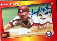 Lenny Dykstra Autographed 1992 Triple Play #94