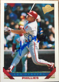 Lenny Dykstra Autographed 2003 Topps All-Time Fan Favorites #141