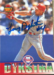 Lenny Dykstra Autographed 1994 Triple Play #173