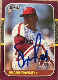 Shane Rawley Autographed 1987 Donruss Opening Day #159