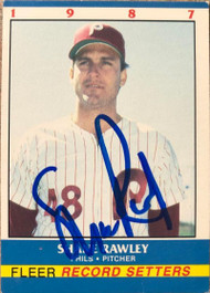 Shane Rawley Autographed 1987 Fleer Record Setters #31