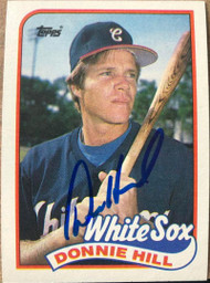 Donnie Hill Autographed 1989 Topps #512