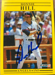 Donnie Hill Autographed 1991 Fleer #316