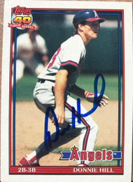 Donnie Hill Autographed 1991 Topps #36