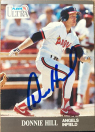 Donnie Hill Autographed 1991 Fleer Ultra #46