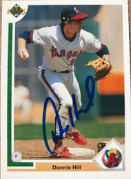 Donnie Hill Autographed 1991 Upper Deck #211