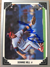 Donnie Hill Autographed 1991 Leaf #177