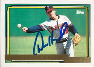 Donnie Hill Autographed 1992 Topps Gold #731