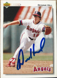 Donnie Hill Autographed 1992 Upper Deck #413