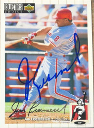 Jim Eisenreich Autographed 1994 Collectors Choice Silver Signature #388
