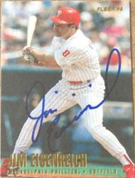 Jim Eisenreich Autographed 1996 Fleer #496