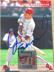 Jim Eisenreich Autographed 1996 Donruss #470