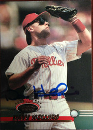 Dave Hollins Autographed 1993 Stadium Club #339