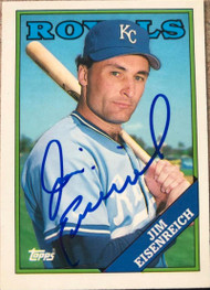 Jim Eisenreich Autographed 1988 Topps Tiffany #348