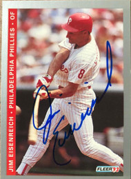 Jim Eisenreich Autographed 1993 Fleer Final Edition #F-109