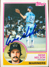 Gene Nelson Autographed 1983 Topps #106