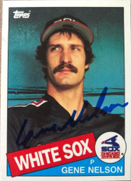 Gene Nelson Autographed 1985 Topps Traded #86T