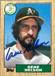 Gene Nelson Autographed 1987 Topps Traded #84T