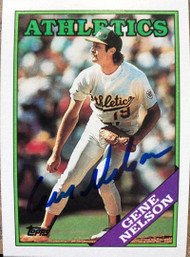 Gene Nelson Autographed 1988 Topps #621