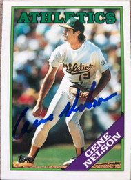 Gene Nelson Autographed 1988 Topps Tiffany #621