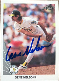 Gene Nelson Autographed 1990 Leaf #477