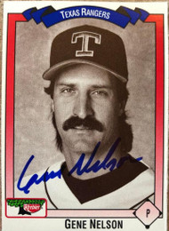 Gene Nelson Autographed 1993 Keebler All-Time Texas Rangers #416